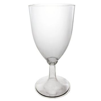 Party Essentials WINEBOX-6 Hard Plastic 1-Piece Wine Glass, 8-Ounce Capacity, Clear (Case of 48)