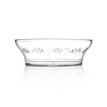 Clear 6 oz. Disposable Rigid Plastic Dessert Bowls - 20 Count