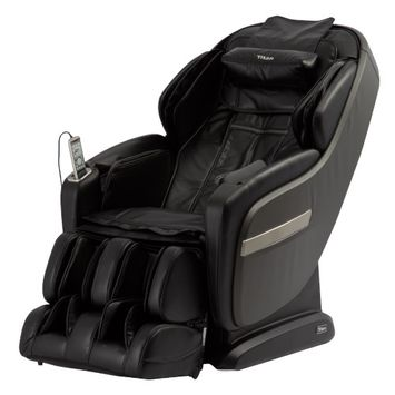 TITAN OS-Pro Summit Massage Chair with L-Track Massage Function - Black