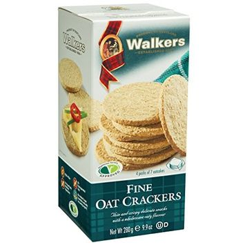 Walkers Shortbread Fine Oat Crackers, 9.9 Ounce (Pack of 6)