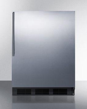 Summit FF6BSSHV 5.5 Cu. Ft. Stainless Steel Undercounter Compact Refrigerator