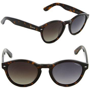 Polaroid PLD 1019/S QW7-LA Rectangle Sunglasses Dark Havana/Brown Gradient Polarized Lens