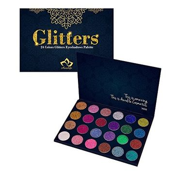 24 Colors Eyes Makeup Glitter Highly Pigmented Mineral Pressed Glitter Colorful Makeup Eye Shadow Flash Glitter Eyeshadow Palette