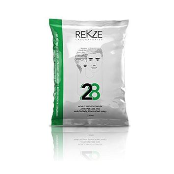 REKZE 28 World's First Anti-Hair Loss Wipes Designed To Clean & Create Optimal Conditions For Hair Growth, For Both Men & Women With Excess Sebum, Fine & Thinning Hair
