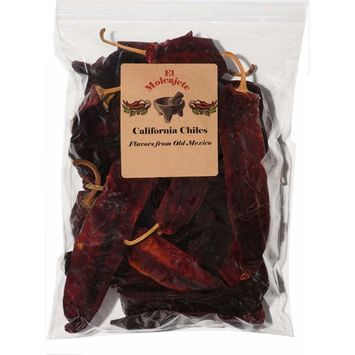 Dried Mexican California (Anaheim) Chiles El Molcajete Brand Resealable Bag ‐ 5 oz Mexican Recipes, Tamales, Salsa, Chili, Meats, Soups, Stews & BBQ