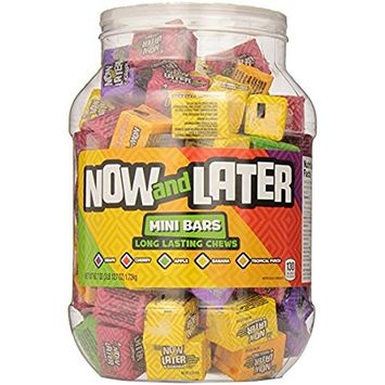 Now & Later Classic Mini Bars - 60.7oz Jar - Pack of 4 [4 Pack]