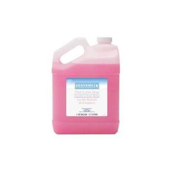 Boardwalk Mild Cleansing Pink Lotion Soap, Pleasant Scent, Liquid, 1 gal Bottle, 4/Carton