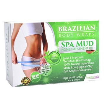 Brazilian Body Wraps - Spa Mud Home Treatment Kit for Women Slimming Home Spa Treatment for Cellulite, Weight Loss, Stretch Marks