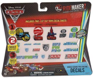 Supergooddeals.com 2x Cars 2 World Grand Prix Francesco Racing Decals