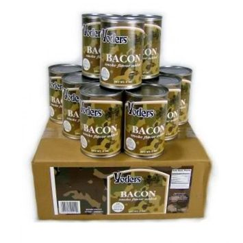 Yoders 12 Can Box Fully Cooked Bacon, 9 Ounce Each