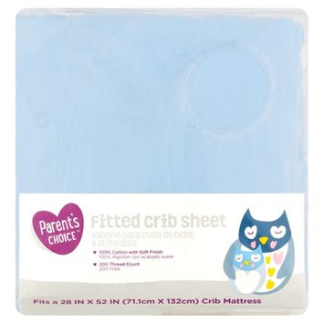 Parent's Choice Fitted Crib Sheet, Blue