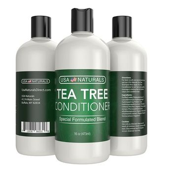 Tea Tree Oil Hair Conditioner Sulfate Free: Revitalize Damaged Hair, Restore Shine and Promote Thickness with Naturally-Sourced Ingredients–Tea Tree Oil, Organic Argan Oil, Organic Chamomile [Tea Tree Conditioner]