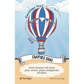 Envelope Tea EMPIRE CHAI Gourmet Herbal Tea Bags
