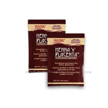Hask Henna N Placenta Conditioning Treatment 2oz , Strengthens & Repairs, [2 Pack]