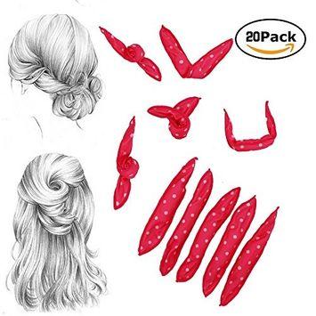 Okdeals Foam Hair Rollers Pillow Curlers, Sponge Flexible Hair Curlers Sleep No Heat Hair Styling DIY Tools for Long and Short Hair (20 Pack, Pink)