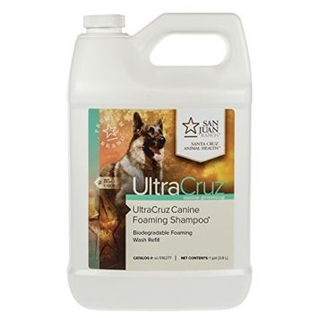 UltraCruz Canine Foaming Shampoo for Dogs, 1 gal Refill