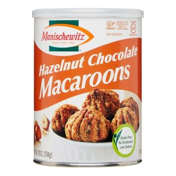 Manischewitz Macaroon Cookies, Hazelnut Chocolate, 10 Oz