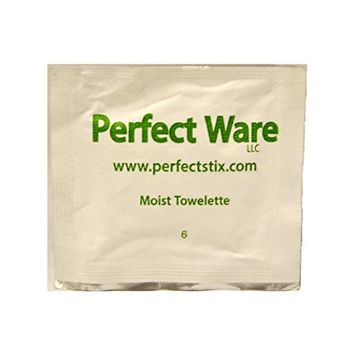 Perfect Stix Wet Naps- 100 Wet-Nap Moist Towelette (Pack of 100)