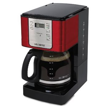 Mr. Coffee 12 Cup Programmable Red Coffee Maker RED by Mr. Coffee