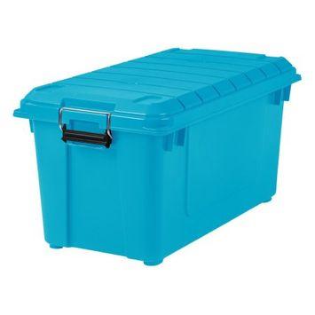 Iris Store-It-All 82 Quart Plastic Storage Tote Color: Teal