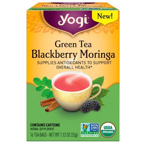 Yogi Tea, Green Tea Blackberry Moringa, 16 Tea Bags, 1.12 oz (32 g)