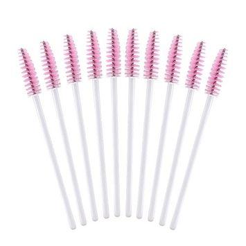 Eyelash Mascara Brushes,100PCS Disposable Eyelash Applicator Brush for Eyelash Extension Supplies