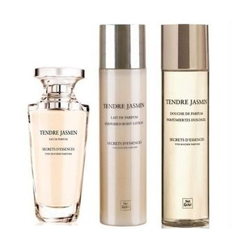Yves Rocher TENDRE JASMIN SECRETS D'ESSENCES Fragrance 3-piece Gift Set: Tendre Jasmin Secrets D'Essence Eau de Parfum, 50 ml/ Perfumed Body Lotion, 200 ml &...