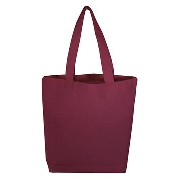 TBF - (3 Pack) Set of 3 High Quality Cotton Tote Bags Wholesale with Bottom Gusset (Maroon) [name: actual_color value: actual_color-maroon]