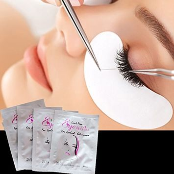 Vinmax 100 Pairs Set,Under Eye Pads, Lint Free Lash Extension Eye Gel Patches for Eyelash Extension Eye Mask Beauty Tool