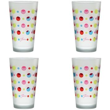 16 oz. Dots Frosted Cooler (Set of 4)
