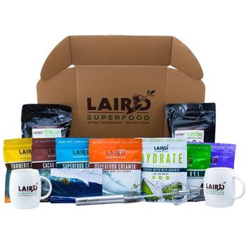 Laird Superfood The Kauai Gift Box | Organic Coffee| Dairy & Gluten Free, Vegan, Soy Free, Non-GMO Coffee Creamers | Coconut Sugar | Coffee Hand Blender | Mugs | Instafuel | Hyrdate