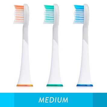 GreaterGoods Sonic Electric Replacement Heads, 3 Count for S/E Toothbrush