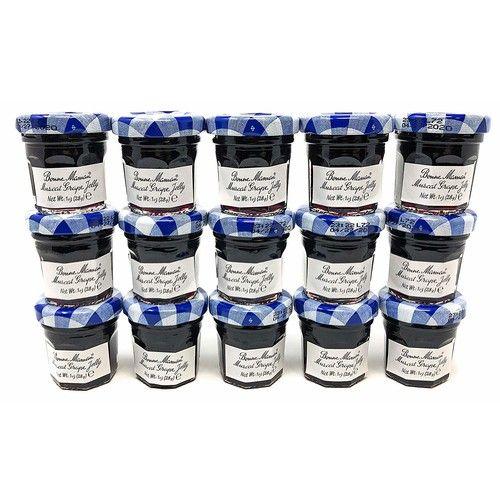 Bonne Maman French Grape Preserve Mini Jars - 30 pcs x 1 oz - Kosher Jelly Jam