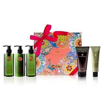 Harnn Jasmine Beauty Gift Set - Jasmine Natural Cleansing Gel, Body Lotion, Moisturizing Hand Cream, Natural Shampoo, And Conditioner
