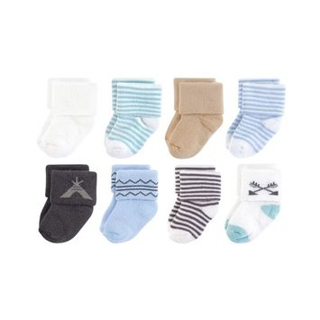 Touched by Nature Organic Cotton Terry Socks, 8-Pack, 0-12 Months