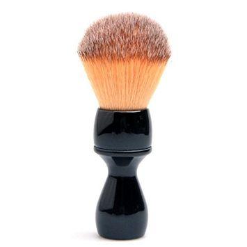 CSB Shaving Brush Synthetic Angel Hair Fibers Seal Black Resin Handle