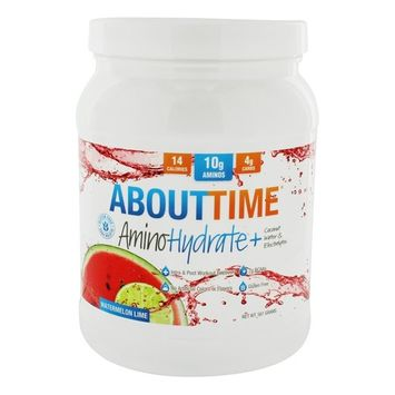 AminoHydrate+ Coconut Water & Electrolytes Intra & Post Workout Recovery Powder Watermelon Lime - 561 Grams