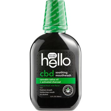 Hello CBD Activated Charcoal Soothing Mouthwash