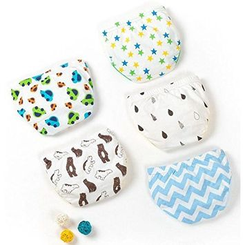 Jomin Baby Boy's Cotton Toddler Underwear 5 Pack(Small)