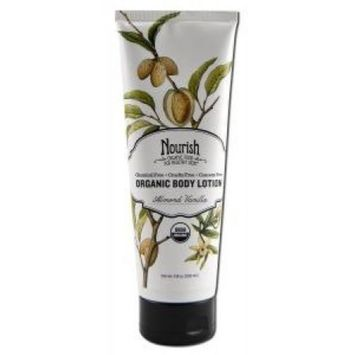 Nourish Organic Body Lotion Almond Vanilla Sensible Organics 8 oz Lotion