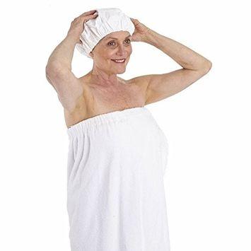 Dry Shampoo White Shower Caps - Set of Six