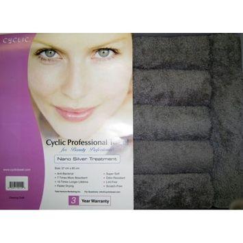Nano Cyclic Microfiber Towel with Nano Silver Treatment, Charcoal