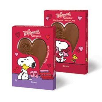 Whitman's Peanuts Snoopy Solid Milk Chocolate Heart Bar, 1.3 oz.