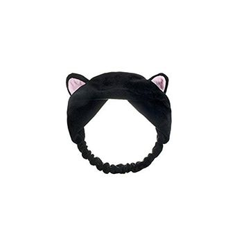 1 PCS Lovely Cat's Ear Hairband HeadBand Hairpin Headdress Hair Hoop Hair Accessories for Wash Face and Make Up(Black)