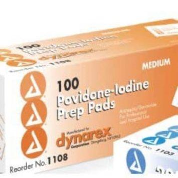 Prep Pad Povidone Iodine - Item Number 1108CS - 1000 Each / Case