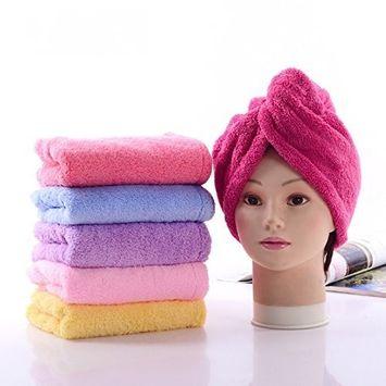 Healthcom 3 Pcs Hair Drying Towels Microfiber Towel Quick Dry Hair Towel Bath Shower Hair Wrap Hair Turban