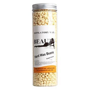Bestpriceam No Strip Depilatory Hot Film Hard Wax Pellet Waxing Bikini Hair Removal Bean, 14Ounce / 400G (Yellow)