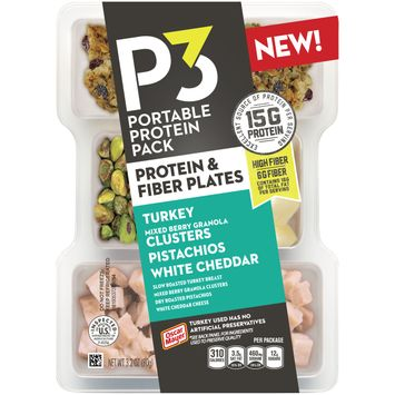 Oscar Mayer P3 Turkey, Mixed Berry Granola Clusters, Pistachios & White Cheddar Portable Protein Pack