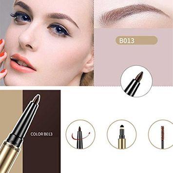 Multi-Purpose Three-In-One Eyebrow Pencil, Lotus.flower Women Dynamic Charm Eyebrow Pen With Brush Waterproof Makeup Tool