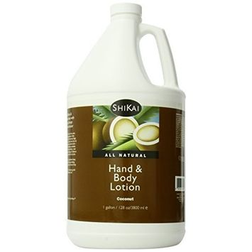 Shikai - Natural Moisturizing Hand & Body Lotion, Softens & Moisturizes Skin with Aloe Vera, Borage Oil & Shea Butter, Sensually Smooth Skin with Delicious Fragrances (Coconut, 1 Gallon)